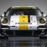 Porsche 911 GT3 RSR 997 silver white front profile