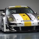 Porsche 911 GT3 RSR 997 silver white front profile angle