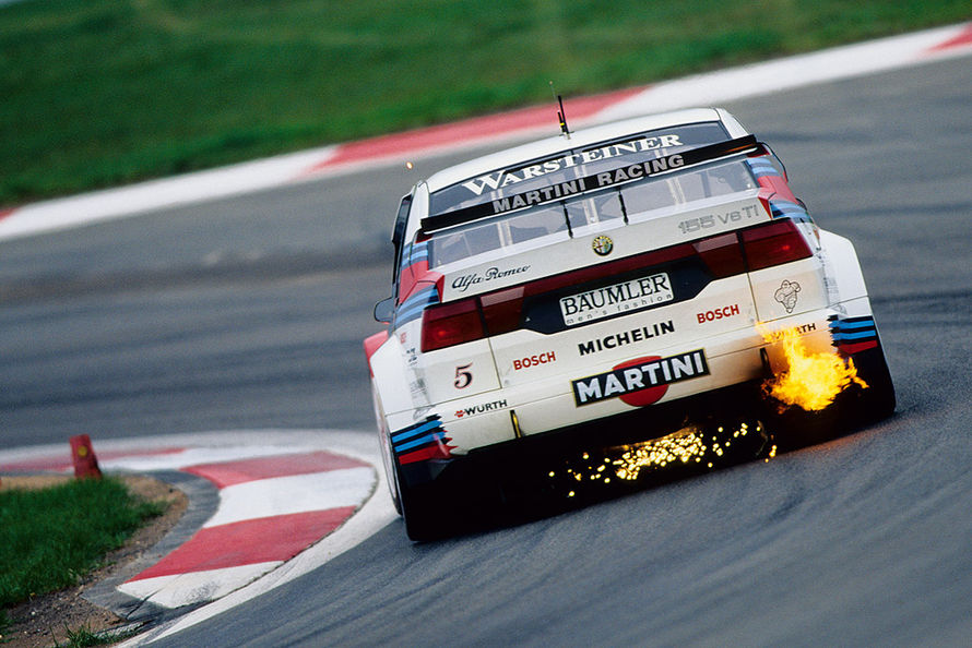 Alfa Romeo 155 2 5 V6 Ti Dtm 1993 Touring Car Rear Flame