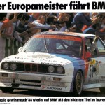 BMW M3 EVO Touring Car poster front low celebration (1024x709)