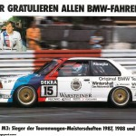 BMW M3 EVO Touring Car poster side celebration (1024x727)
