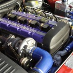 Ford Escort Cosworth Engine Bay clean red