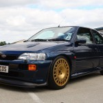 Ford Escort RS Cosworth Blue Gold Compomotive wheels