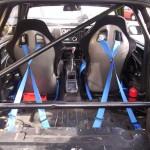 Ford Sierra Cosworth 3 door trackcar interior rear rollcage cabin black