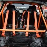 Ford Sierra Cosworth 3 door trackcar interior rear rollcage cabin orange