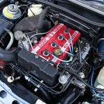 Ford Sierra Cosworth Engine Bay clean closeup