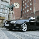 Ford Sierra RS500 black front cosworth city low