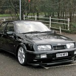Ford Sierra RS500 black front escort alloy wheels