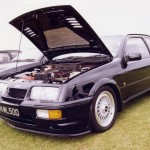 Ford Sierra RS500 black front low engine bay