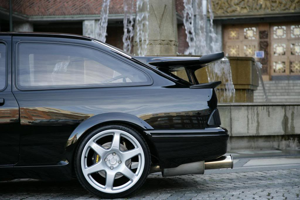 Ford Sierra Rs500 Black Rear Profile Cosworth City Low