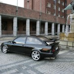 Ford Sierra RS500 black side cosworth city low