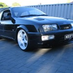 Ford Sierra RS500 cosworth black street spec alloy wheels front