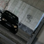 Ford Sierra RS500 cosworth black underground graffiti