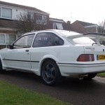 Ford Sierra RS500 cosworth white alloy wheels street spec
