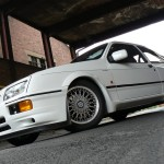 Ford Sierra RS500 cosworth white front low