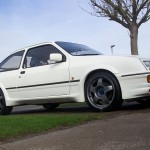 Ford Sierra RS500 cosworth white front low alloys