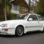 Ford Sierra RS500 cosworth white front low bbs