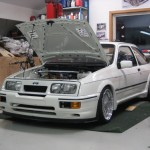 Ford Sierra RS500 cosworth white garage storage care