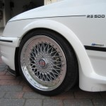 Ford Sierra RS500 cosworth white immaculate low front bbs wheel driveway