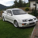 Ford Sierra RS500 cosworth white immaculate low front garden