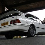 Ford Sierra RS500 cosworth white rear low