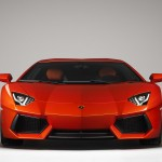Lamborghini Aventador LP700-4 waiting list orange studio front