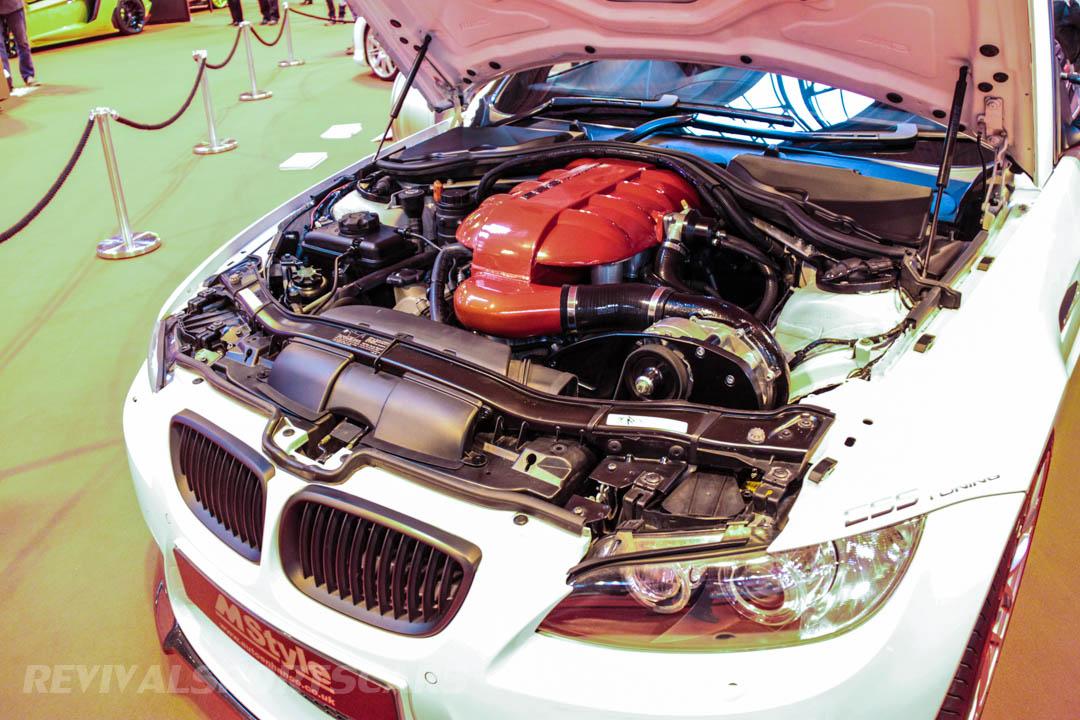 Autosport International BMW E90 M3 supercharged engine detail full