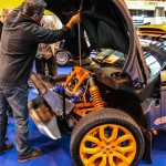 Autosport International Evoque racer front suspension setup