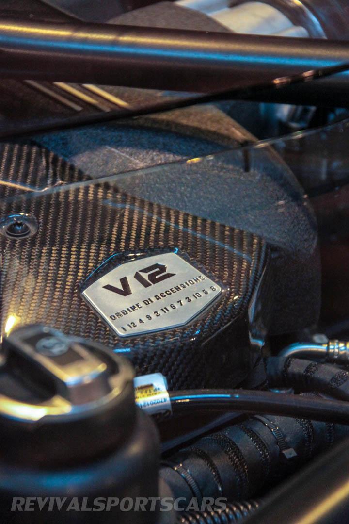 Autosport International Lamborghini Aventador Matt Black engine detail