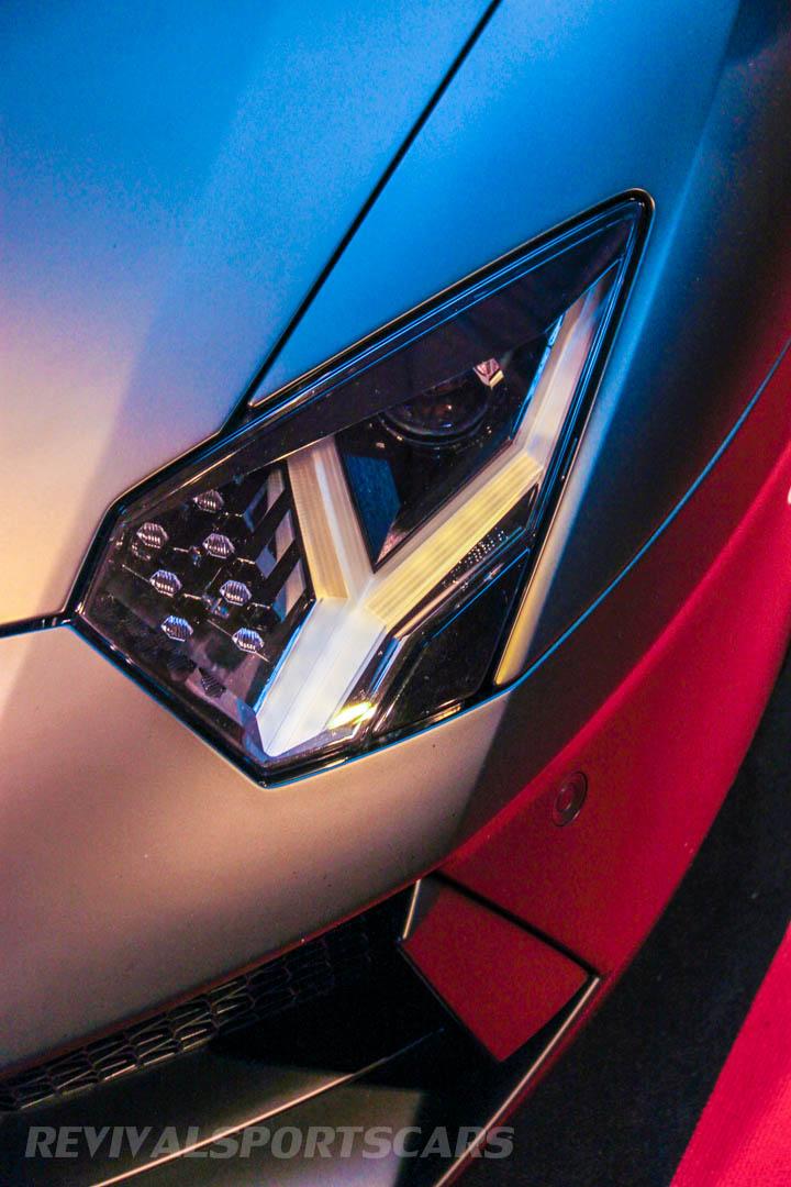 Autosport International Lamborghini Aventador Matt Black light detail