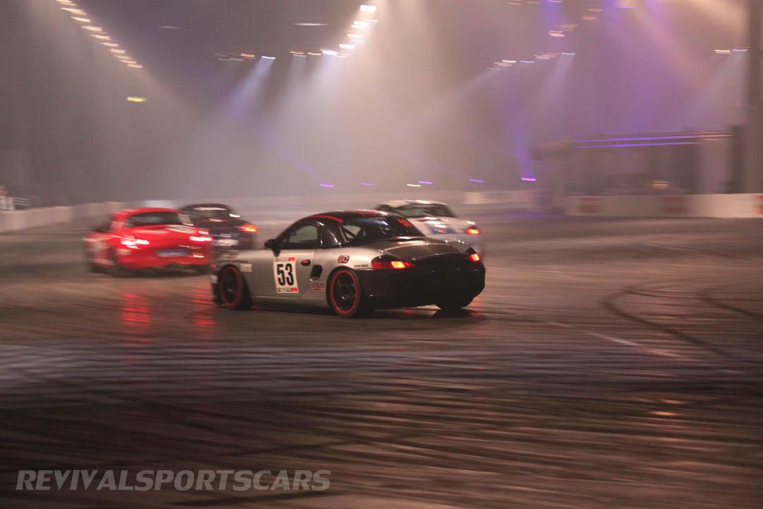 Autosport International Live Action Arena Porsche Boxter Racer
