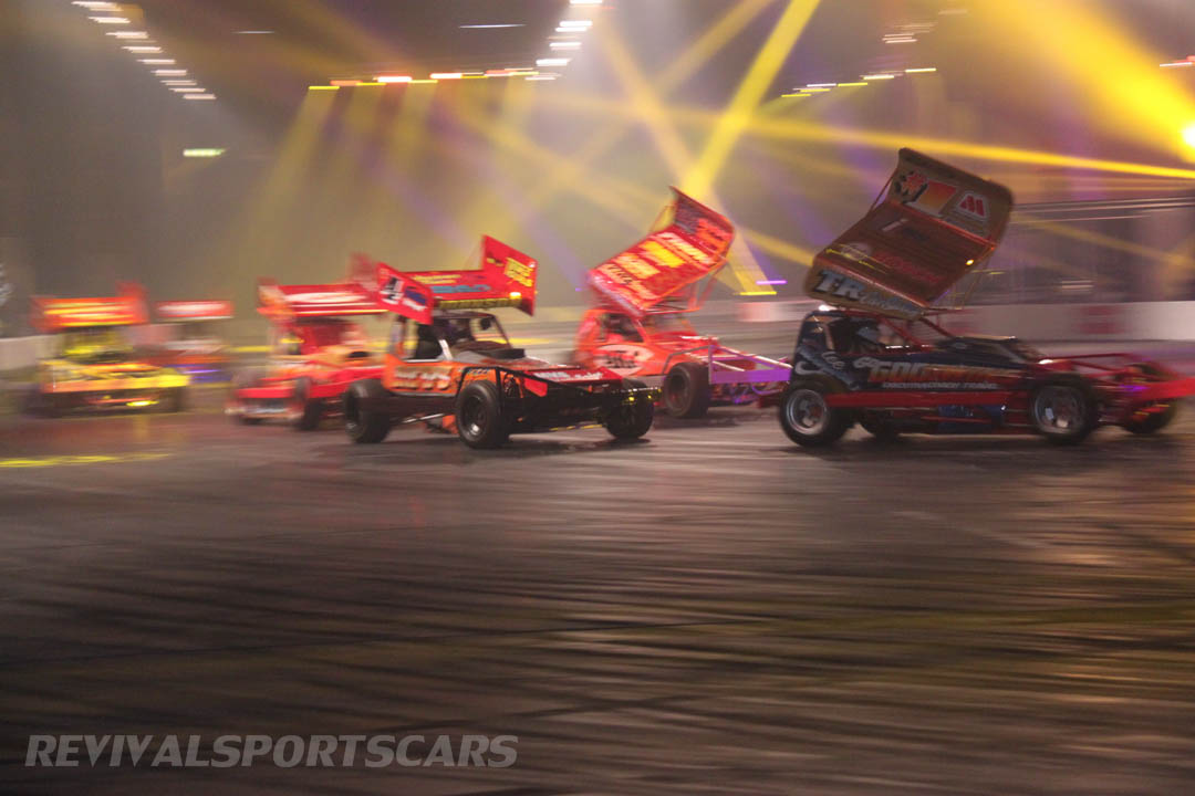 Autosport International Live Action Arena stock cars side