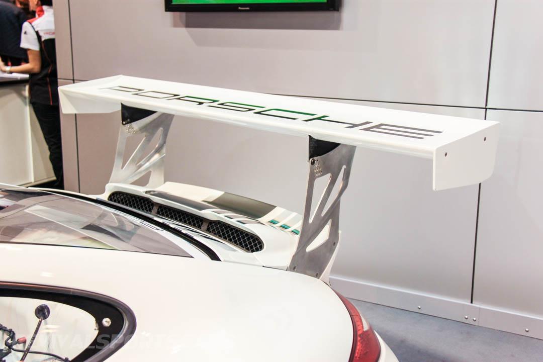 Autosport International Porsche 911 RS racing car spoiler