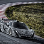 McLaren P1 Nurburgring Testing High Resolution Front Angle low lights Camouflage