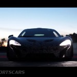 McLaren P1 Nurburgring Testing High Resolution Front Low profile with lights on