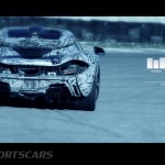 McLaren P1 Nurburgring Testing High Resolution rear Angle with graphics overlaid