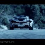 McLaren P1 Nurburgring Testing High Resolution rear with graphics overlaid heat haze