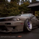 Military Spec Nissan Silvia S14 6666 Customs Stance Nation Front Side detail low alternate