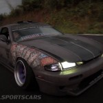 Military Spec Nissan Silvia S14 6666 Customs Stance Nation Front moving speed lights on