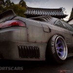 Military Spec Nissan Silvia S14 6666 Customs Stance Nation Rear Side detail low