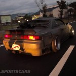 Military Spec Nissan Silvia S14 6666 Customs Stance Nation rear moving speed