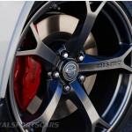 Nissan 370Z Nismo UK European Edition front wheel brake detail forged rays dark