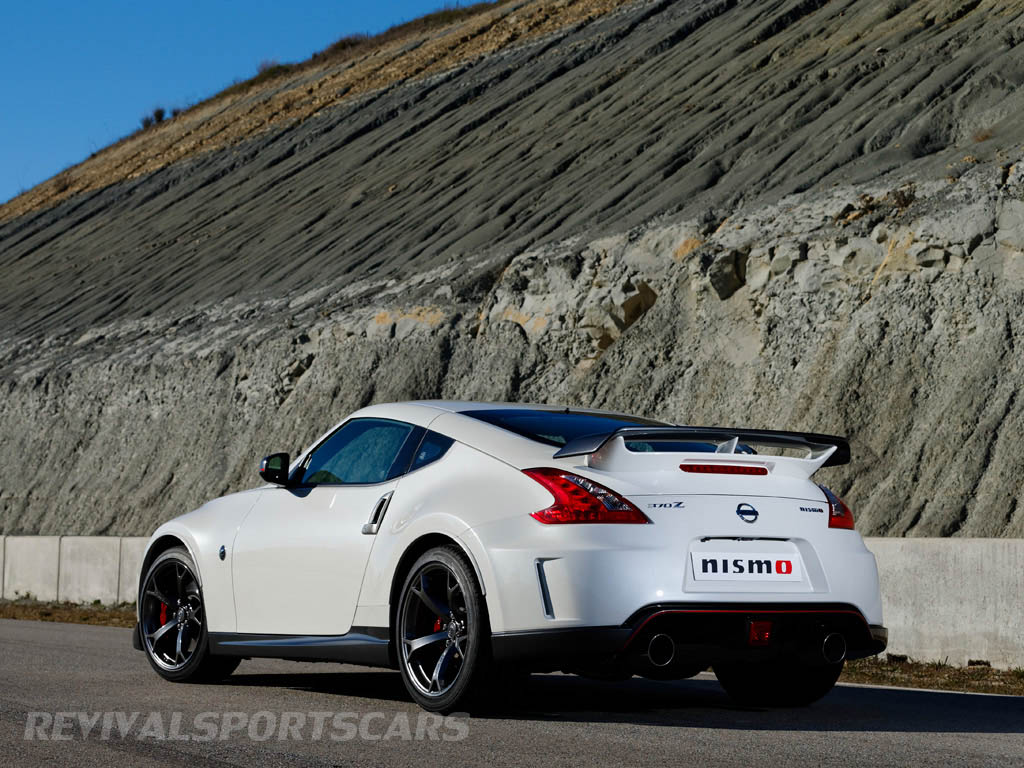 Nissan 370Z Nismo UK European Edition rear white angle