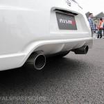 Nissan 370Z Nismo UK European Edition rear white detail exhaust closeup
