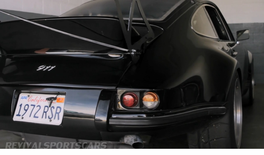 Porsche 911 1973 RSR Jack Olsen modified only one car story rear closeup number plate