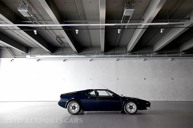 BMW M1 Supercar 1978 Lamborghini Blue Side industrial