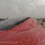 Ferrari Enzo WRC hooning mud splattered rear engine bay