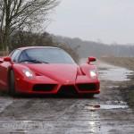 Ferrari Enzo WRC hooning rally off road extreme front drifting sideways