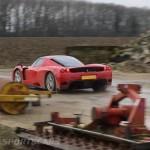 Ferrari Enzo WRC hooning rally off road extreme rear farm track drifting in mud
