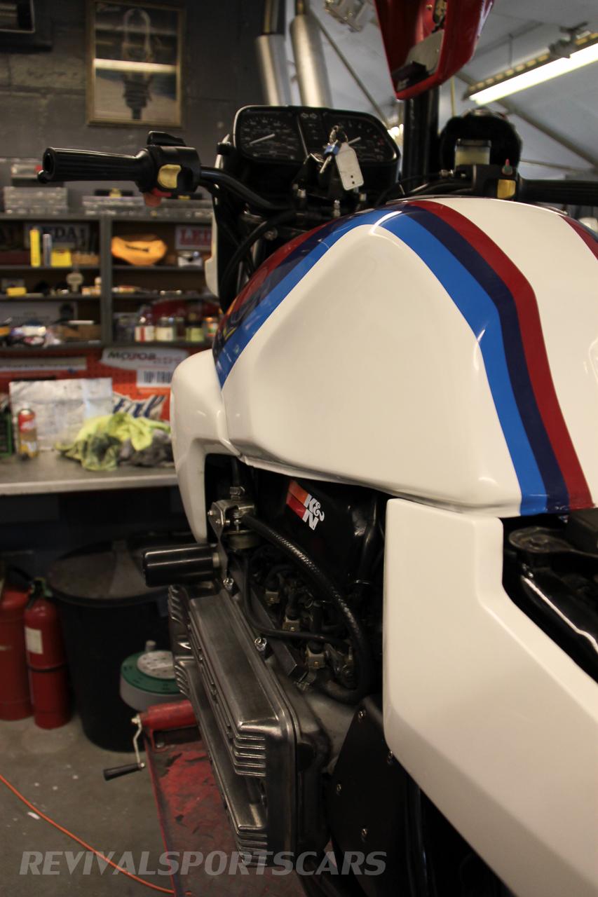 Unit 56 BMW K100 Motorsport stripes